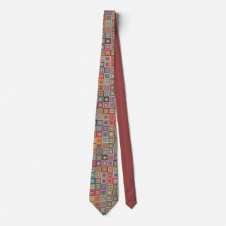 Retro Geometric Tile Pattern Tie