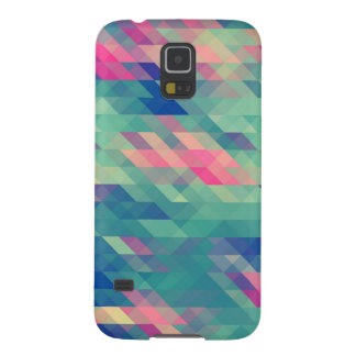 Retro Geometric Triangles Pattern Galaxy Case