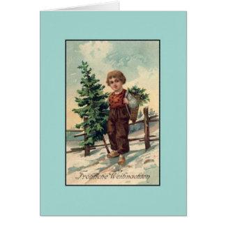 retro german christmas cards invitations. Black Bedroom Furniture Sets. Home Design Ideas