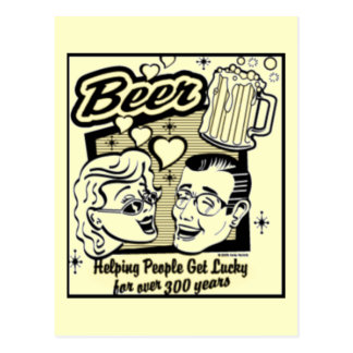 Retro Get Lucky Beer Card (New & Improved!)