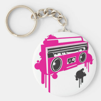 retro ghetto blaster stereo design key ring