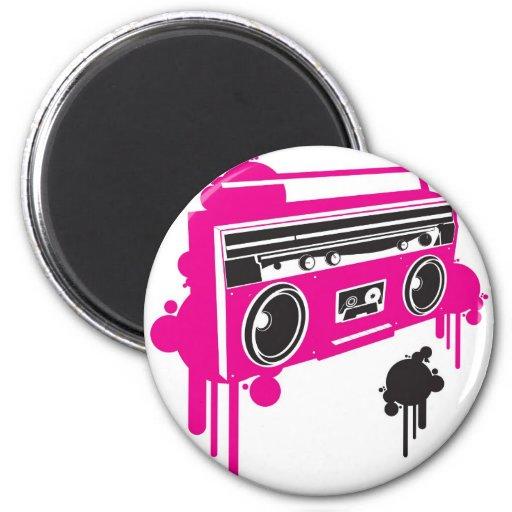 retro ghetto blaster stereo design fridge magnet