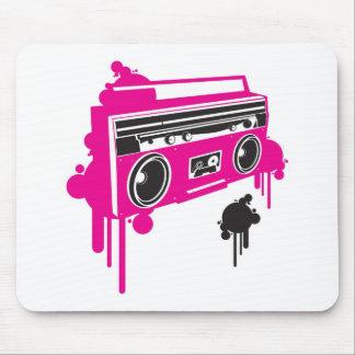 retro ghetto blaster stereo design mouse pad
