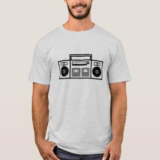 Retro Ghetto Blaster Stereo Music Tshirt - White