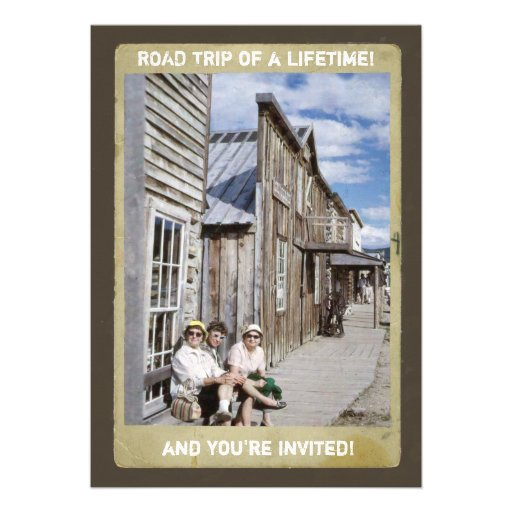 Retro Ghost Town Adventure Invitation