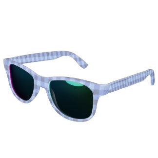 Retro Gingham Blue Sunglasses