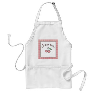 Retro Gingham Cherries Country Apron. Standard Apron
