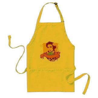 retro girl adult apron