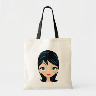 Retro Girl Budget Tote Bag