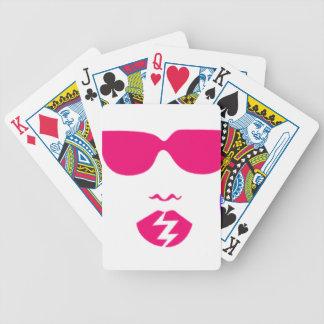 retro girl cards poker cards