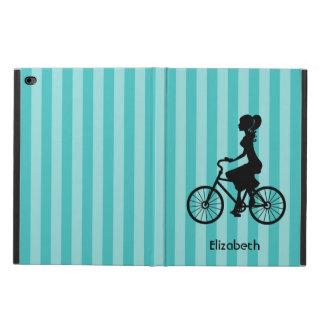Retro Girl Cyclist Silhouette