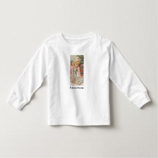 """Retro Girl playing Nurse - """"Future Nurse"""" Toddler T-Shirt"""
