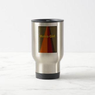 Retro Girl Stainless Steel Travel Mug