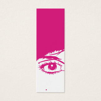 Retro Girls Face in Silhouette Bookmark Mini Business Card