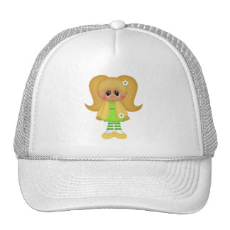 Retro Girly Colorful Doll Mesh Hats