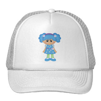 Retro Girly Colorful Doll Mesh Hat