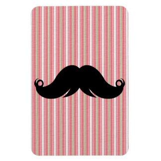 Retro Girly Mustache Moustache Stache Custom Rectangular Magnets