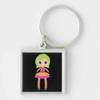 Retro Girly Rag Doll Key Chains