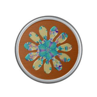 Retro Glam Daisy Flower Turquoise Opalescent Glow Bluetooth Speaker