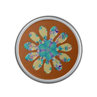 Retro Glam Daisy Flower Turquoise Opalescent Glow Speaker