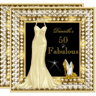 Retro Glamour Hollywood Fabulous 50 Gold Deco Card