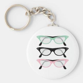 Retro Glasses Key Ring