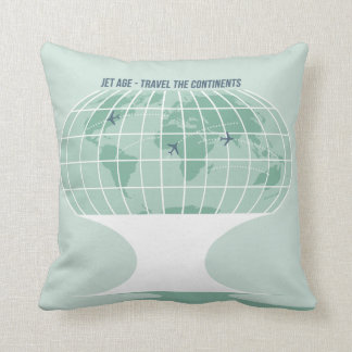 Retro Globe Cushion