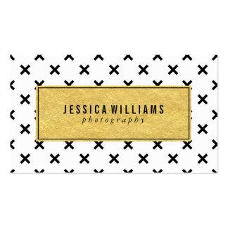 Retro Gold Foil Business Cards