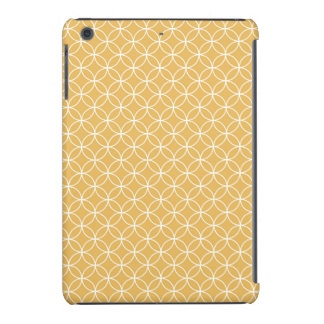Retro Gold, Golden Circles Pattern iPad Mini Covers