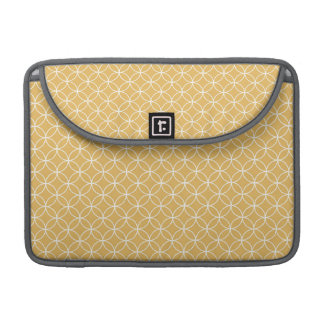Retro Gold, Golden Circles Pattern Sleeves For MacBooks