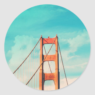 Retro Golden Gate San Francisco Sticker