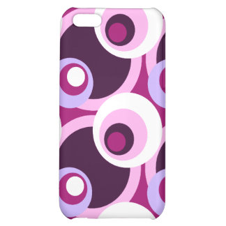 Retro Golden Sixties style circles Cover For iPhone 5C