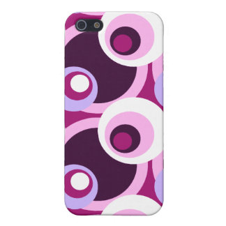 Retro Golden Sixties style circles iPhone 5 Cover