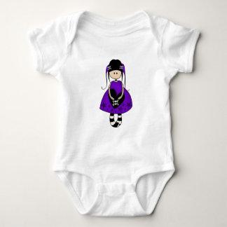 Retro Goth Girl with Skulls Baby Bodysuit