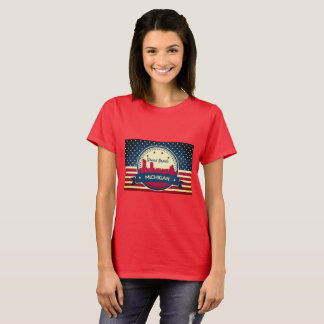 Retro Grand Rapids Michigan Skyline T-Shirt