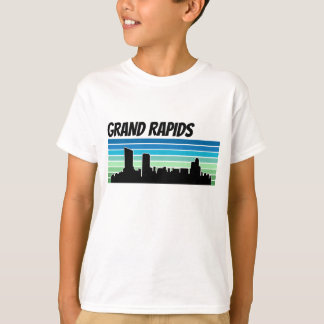 Retro Grand Rapids Skyline T-Shirt