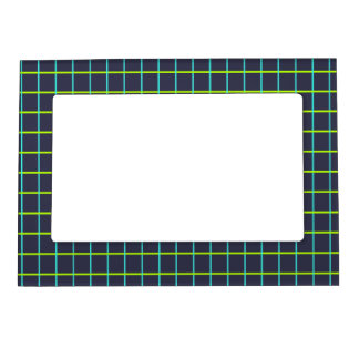 Retro Graphed GB Blue Magnetic Photo Frames
