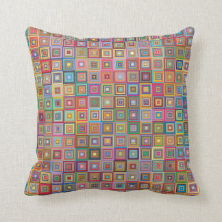 Retro Graphic Squares Design Cushion