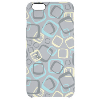 Retro Gray and Yellow Clear iPhone 6 Plus Case