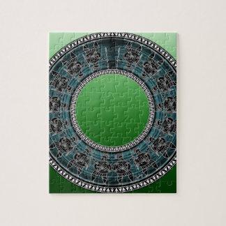 Retro Greek Disc Jigsaw Puzzle