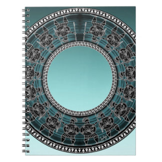 Retro Greek Disc Spiral Notebook