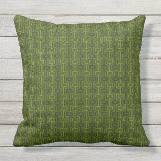 Retro Green 2 Side Patio Outdoor Cushion