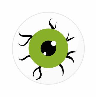 Retro Green and Black Eyeball Photo Cutout