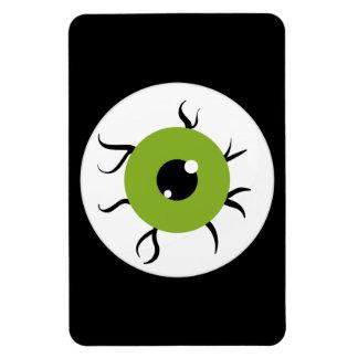 Retro Green and Black Eyeball Rectangle Magnet