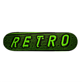 Retro - Green and Black Skate Boards