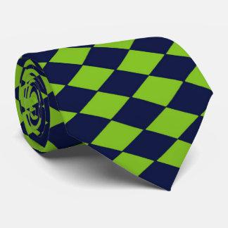 Retro Green and Navy Diamonds Tie, 2-sided Tie