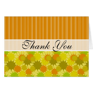 Retro Green and Orange Stationery Note Card