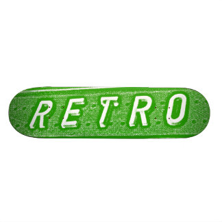Retro - Green and White Skate Board Deck