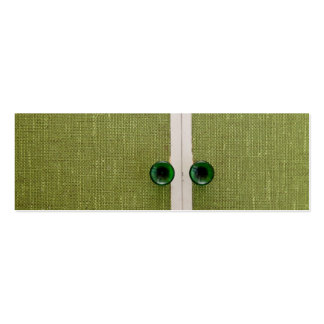 Retro green doors pack of skinny business cards