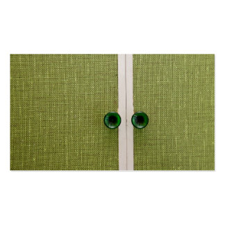 Retro green doors pack of standard business cards